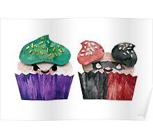 Baked Bad Guys (Joker & Harley) Poster