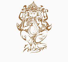 Ganesha India Elephant God Women's Fitted V-Neck T-Shirt
