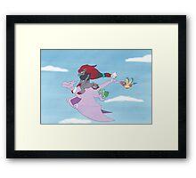 Pokemon On adventure Framed Print