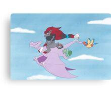 Pokemon On adventure Canvas Print