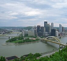 Pittsburgh - View of the Three Rivers by Frank Romeo