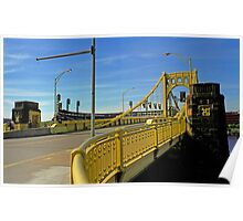 Pittsburgh - Roberto Clemente Bridge Poster