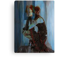 BLUE ROOM ~ RED HAIR Canvas Print