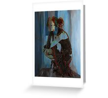BLUE ROOM ~ RED HAIR Greeting Card