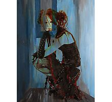 BLUE ROOM ~ RED HAIR Photographic Print