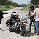 Route 66 - Motorcyclists by Frank Romeo