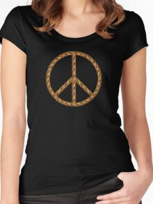 Peace,Love,Music Rope Women's Fitted Scoop T-Shirt