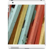Happy Colorful Chairs Stacked on a Porch iPad Case/Skin