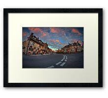 Corfe Castle Village ... Framed Print