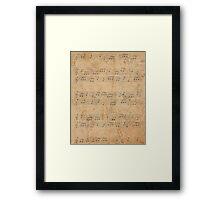 Vintage Sheet Music Framed Print