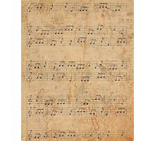 Vintage Sheet Music Photographic Print