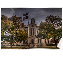 Parker County Courthouse Poster