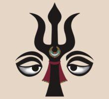 Eyes of Shiva with Trident by shantitees