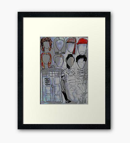 The Doctor's memories  Framed Print