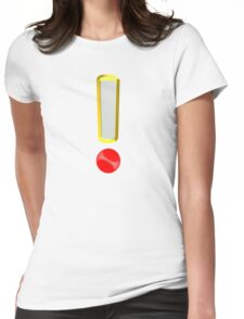 exclamation point Womens Fitted T-Shirt