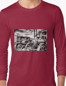 Traction Engine and Steam Lorry Vintage Long Sleeve T-Shirt