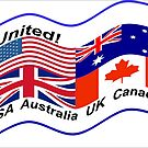 United, USA, Australia, UK, Canada by Bernie Stronner