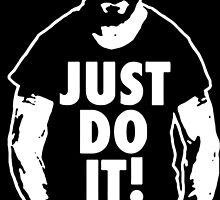 Shia Labeouf Just Do It Black  by KerasAbis