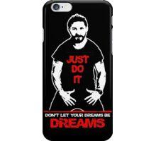 Shia Labeouf Just Do It Black iPhone Case/Skin