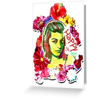 Beautiful Flower hippy girl Greeting Card