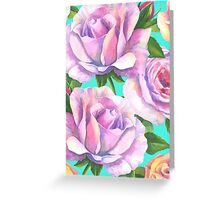 Loose watercolour rose - floral Greeting Card