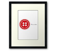 Cute as a button-red Framed Print