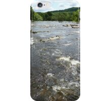 River Wharfe (View Downstream From Aysgarth Falls) iPhone Case/Skin