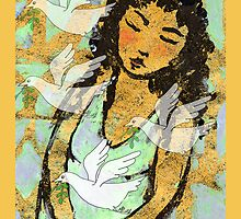 Young girl Dreaming of peace by Mary Taylor