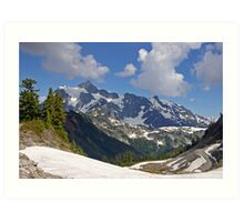 mt shuksan behind the ridge Art Print