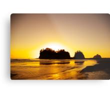 sunset gold, james island, washington, usa Metal Print