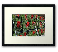 Wreath Market Framed Print