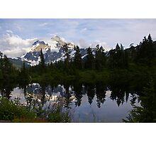 mt shuksan over picture lake, wa, usa Photographic Print
