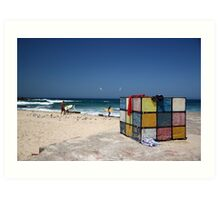 Surfing Fun at Maroubra Beach Art Print