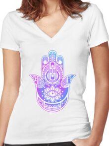 Hamsa Women's Fitted V-Neck T-Shirt