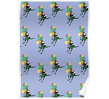 Flying away pattern Poster