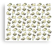 Playful Pugs Canvas Print