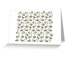 Playful Pugs Greeting Card