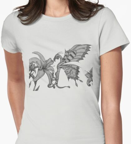 Fey Dragon Womens Fitted T-Shirt