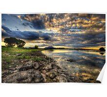 Shoreline Sunset Poster