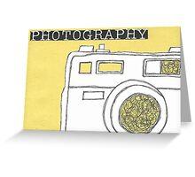 Camera Sketch Greeting Card