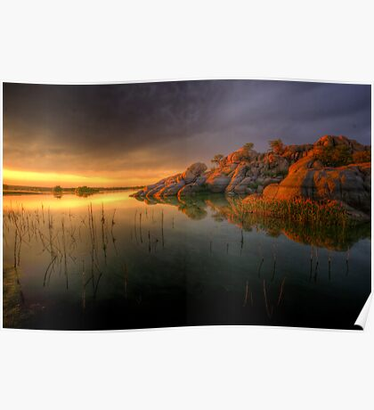 Willow Rock Sunset Poster