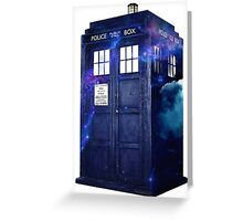 Galaxy Tardis  Greeting Card