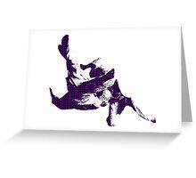 Judo Throw in Gi 3 purple  Greeting Card