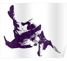 Judo Throw in Gi 3 purple  Poster