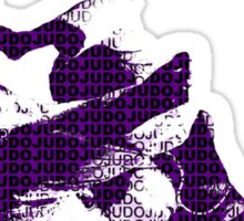 Judo Throw in Gi 3 purple  Sticker