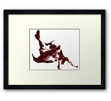 Judo Throw in Gi 3 Red  Framed Print