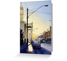 Sunrise over Richmond Town Hall, Melbourne Greeting Card