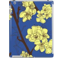 Yellow Spring Blossoms on Blue iPad Case/Skin