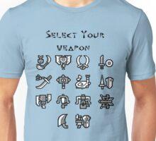 Weapon Selection Unisex T-Shirt