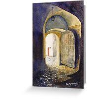 Castle Doorway, Salzburg Greeting Card